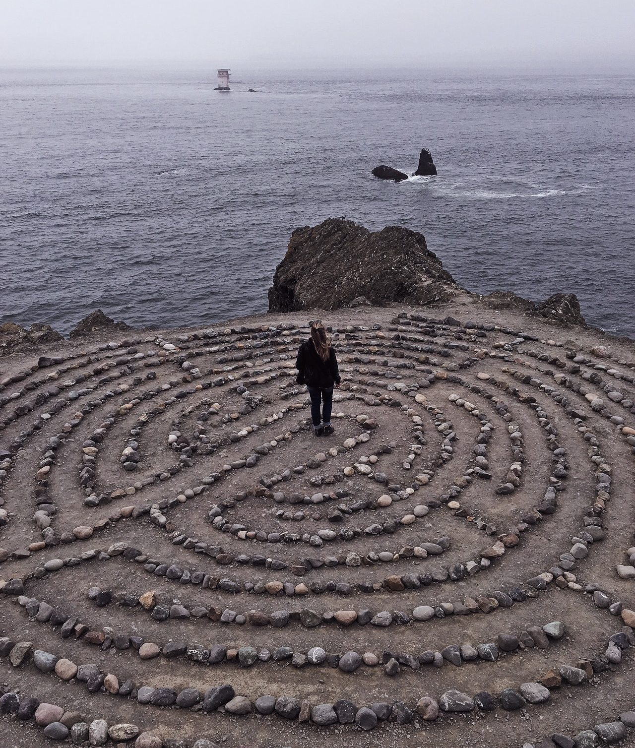 Labyrinth at Lands End in San Francisco
