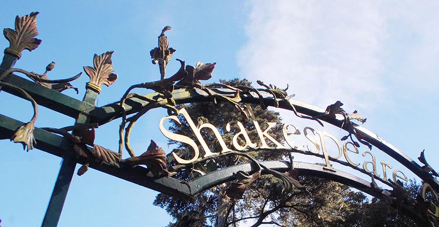 Shakespeare Garden entrance sign in Golden Gate Park