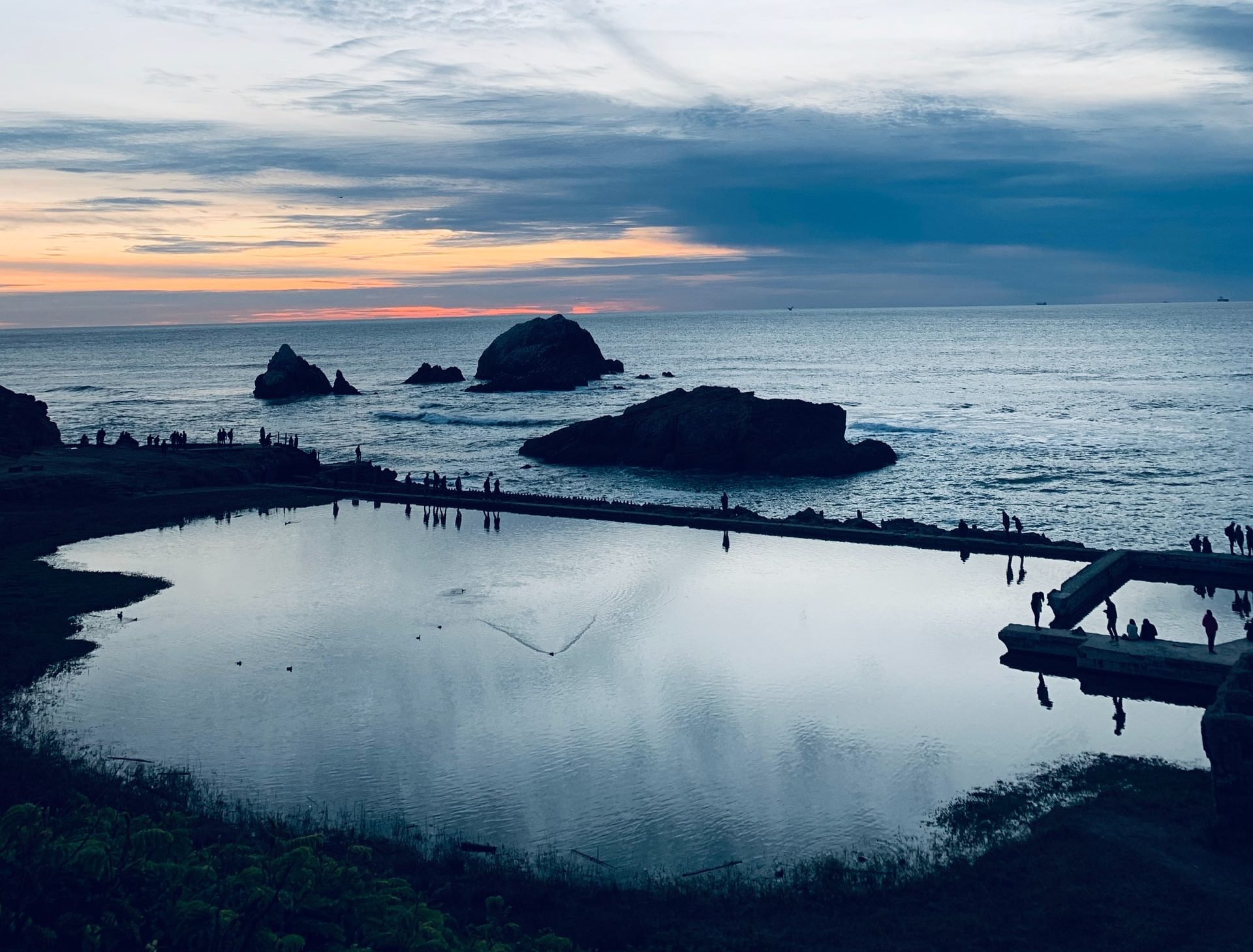 Sutro Baths at Lands End at Sunset