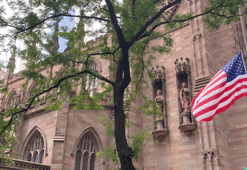Trinity Church on the Self-Guided Hamilton Walking Tour in NYC