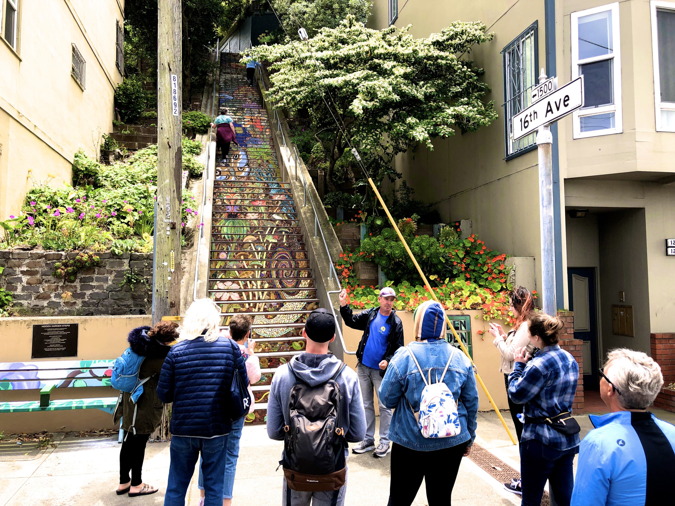 the second hidden gardens staircase on 16th Avenue