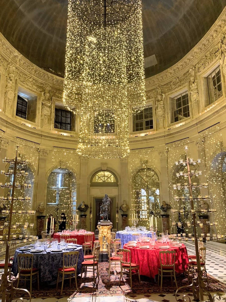 Christmas decor at the Vaux-le-Vicomte chateau in December