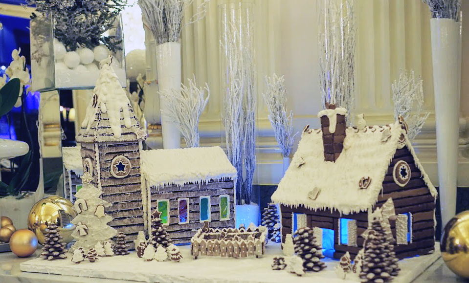 Gingerbread House in Paris for the holidays in December