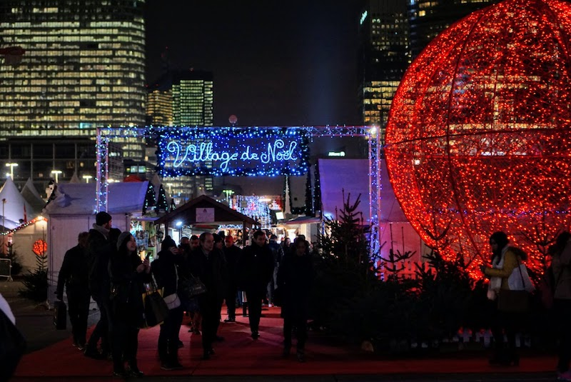 The La Défense Christmas Market, one of the largest holiday markets in Paris