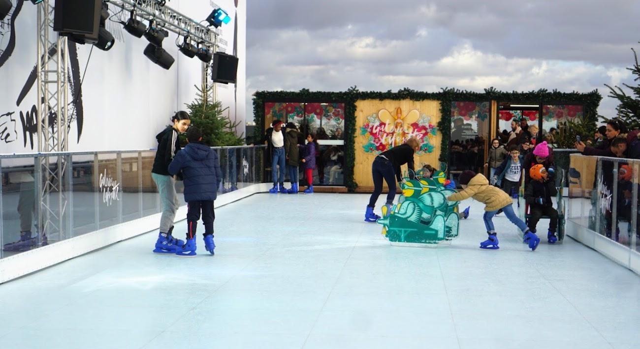Ice skating in Paris in December