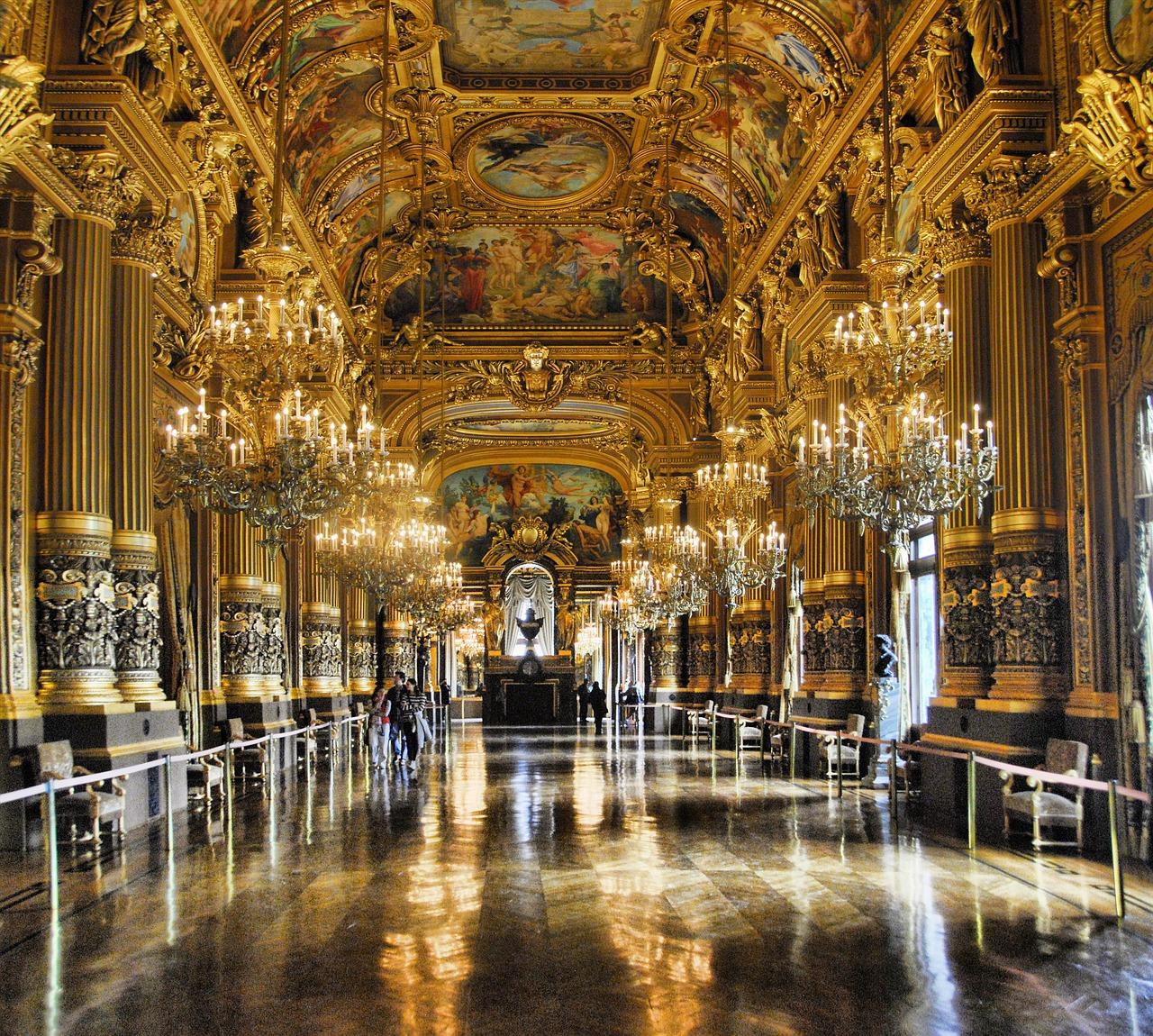Interior of the Opera Garnier palace