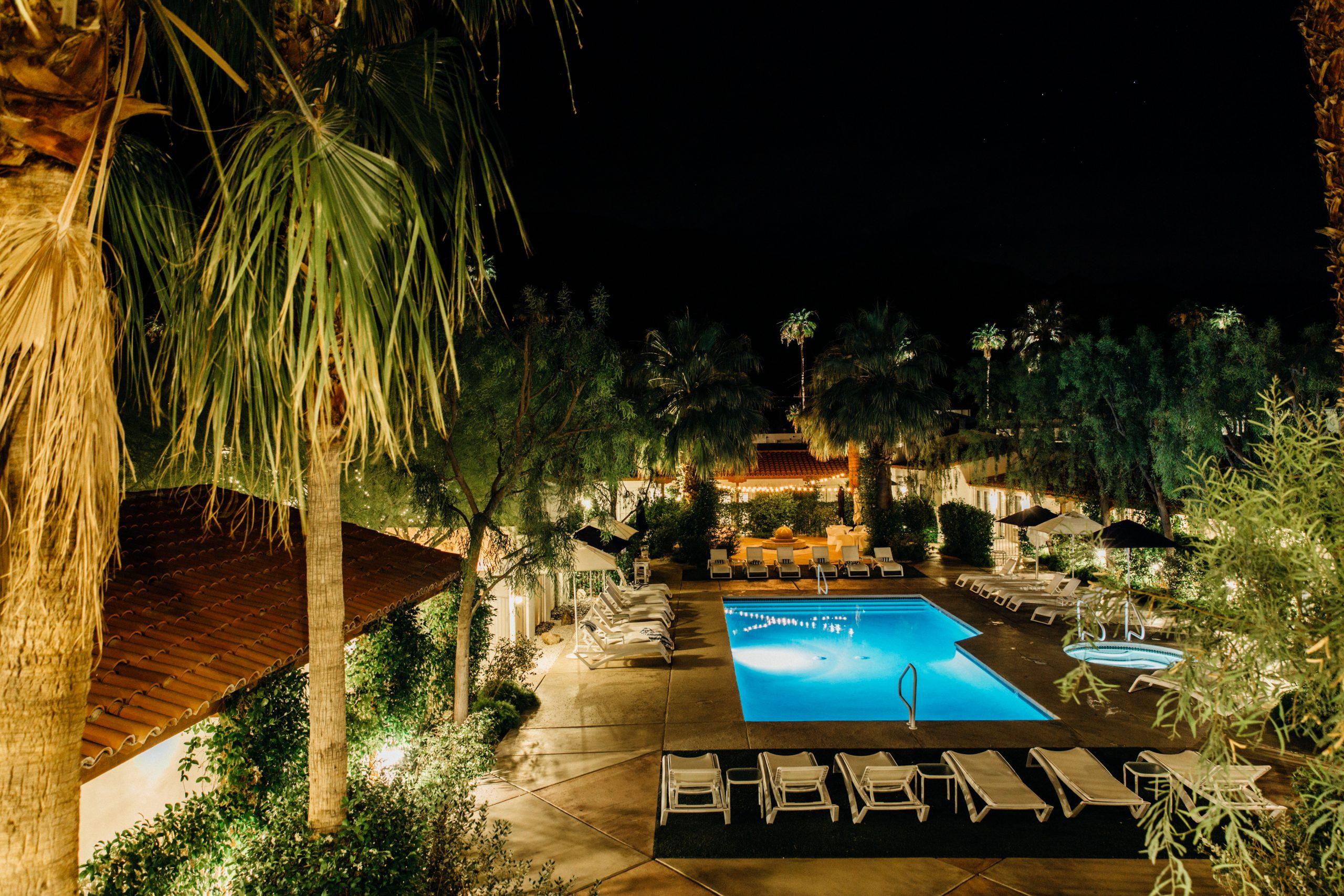 Alcazar Palm Springs hotel pool