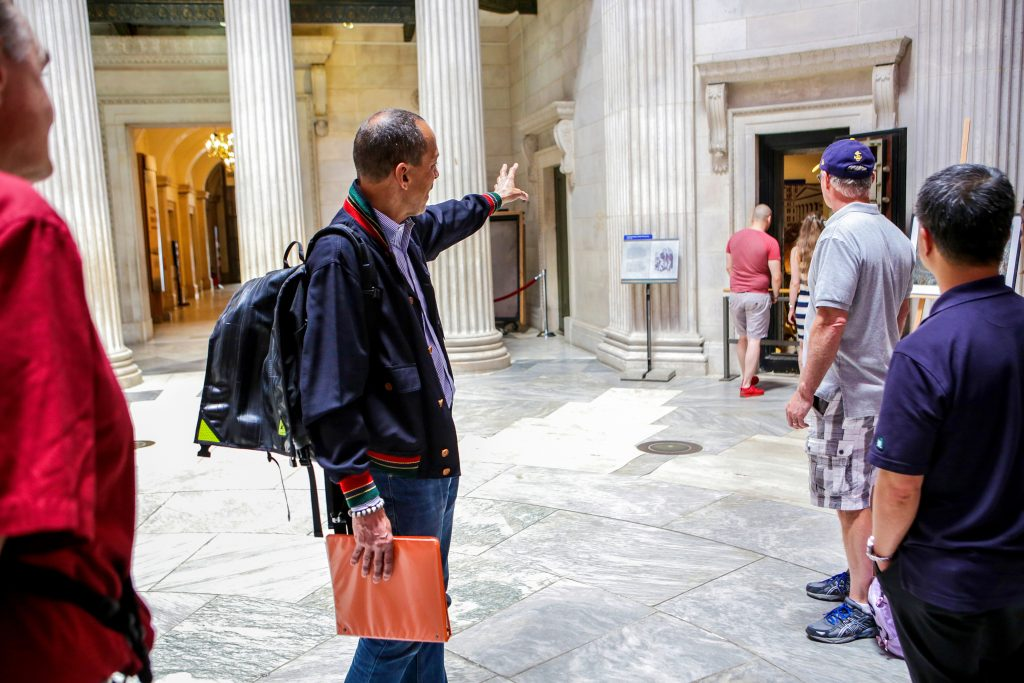 Tour Group in Federal Hall