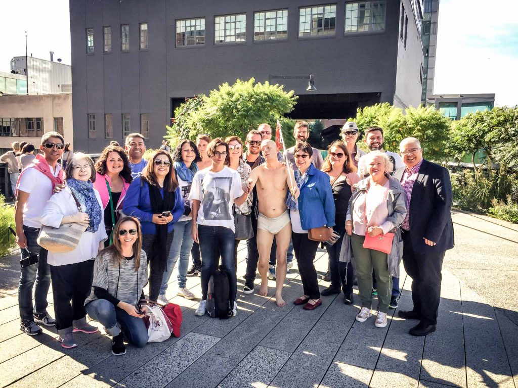 High Line tour group