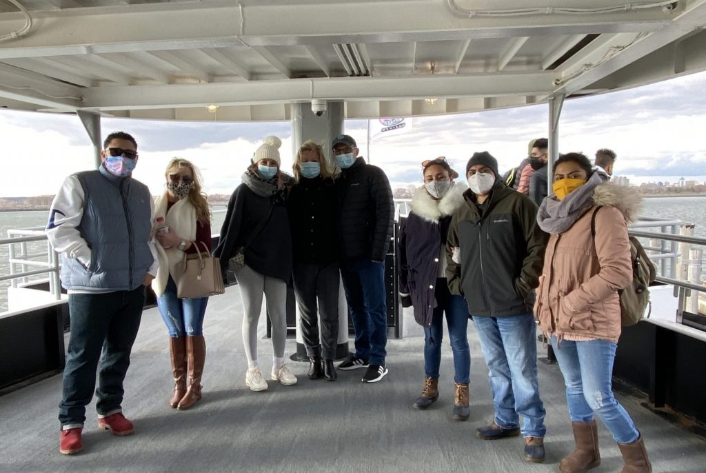 Guided tour during COVID-19 pandemic