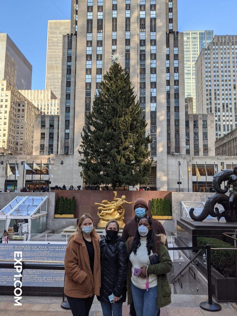 Tour Group in Rockefeller Center