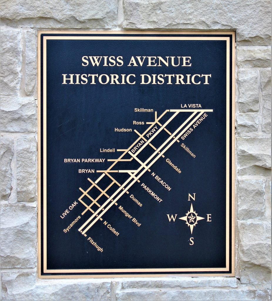 Swiss Avenue Historic District map