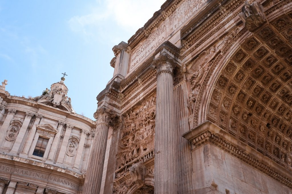 Detail of the Arch of Septimius Severus in the Roman Forum