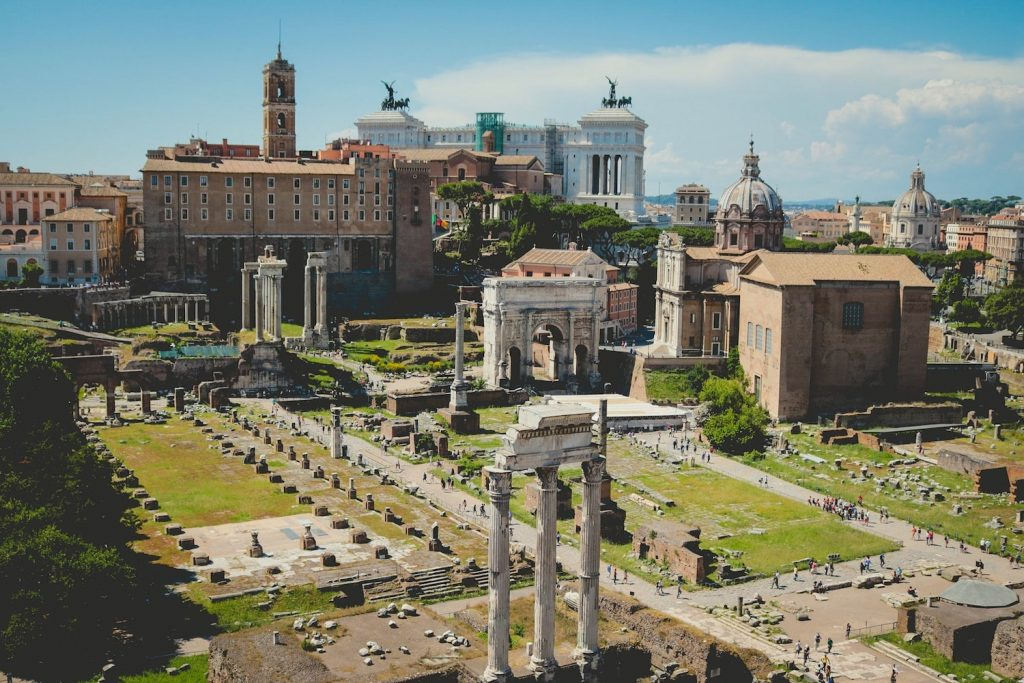 Aerial view of Roman Forum