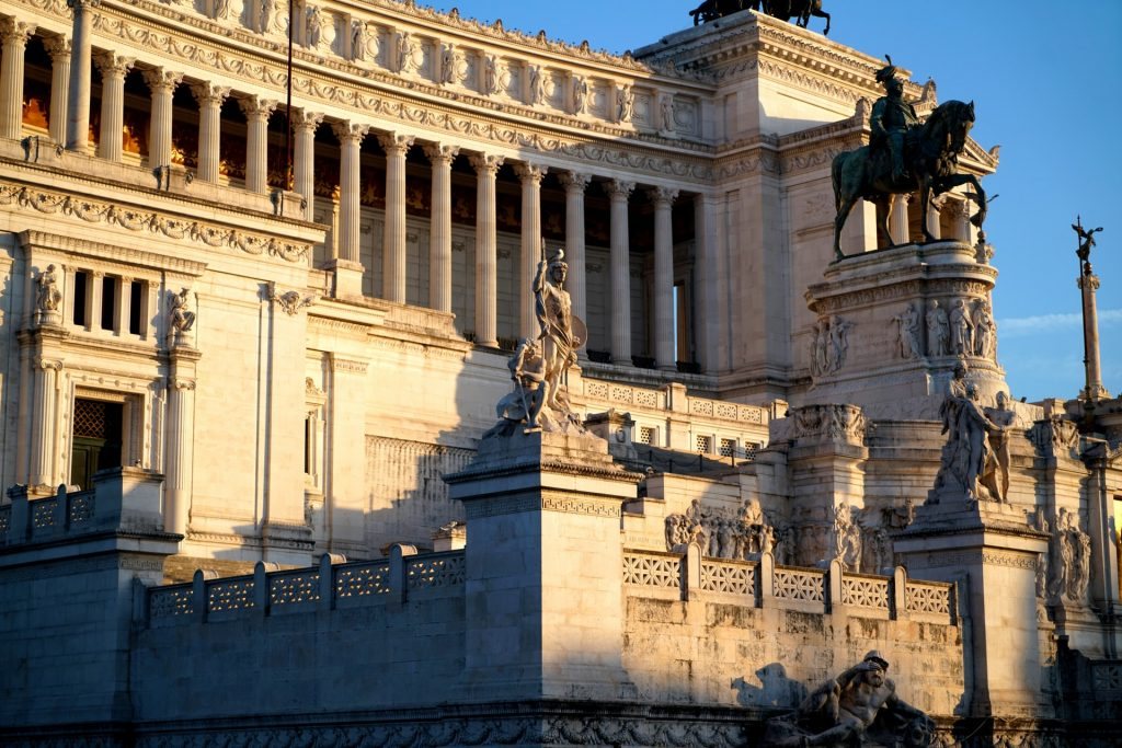 The Victor Emmanuel II National Monument in Rome