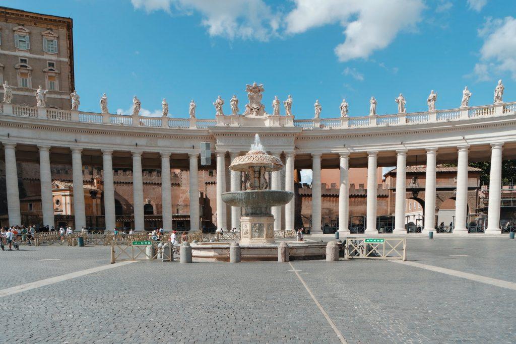 St. Peter's piazza in Vatican City