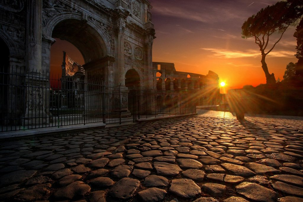 Arch of Constantine at the Roman Colosseum