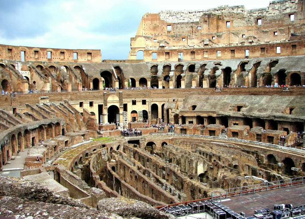 Interior floor of the Colosseum, soon to be retractable