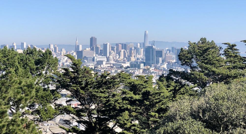 Romantic Urban Hiking in Corona Heights in San Francisco