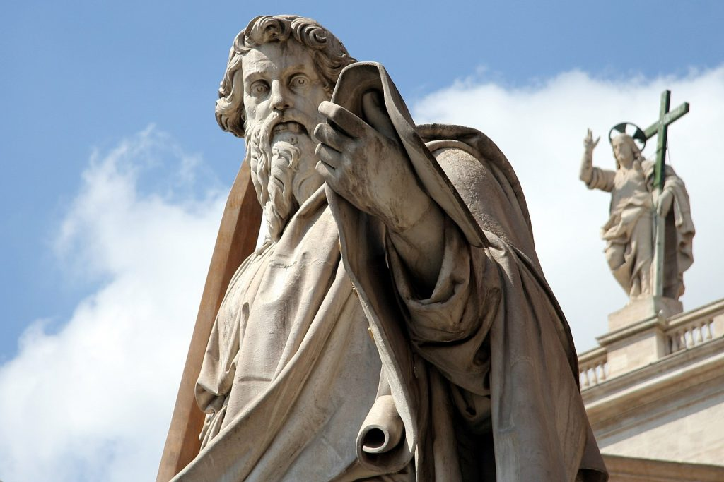 Statue of St. Paul in St. Peter's Square