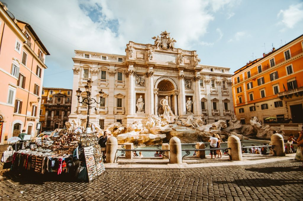 Trevi Fountain in Rome for visitors on a budget