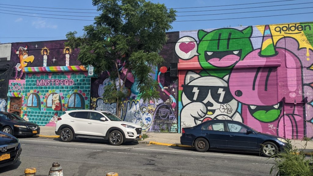 Bushwick Street Art across from Sea Wolf