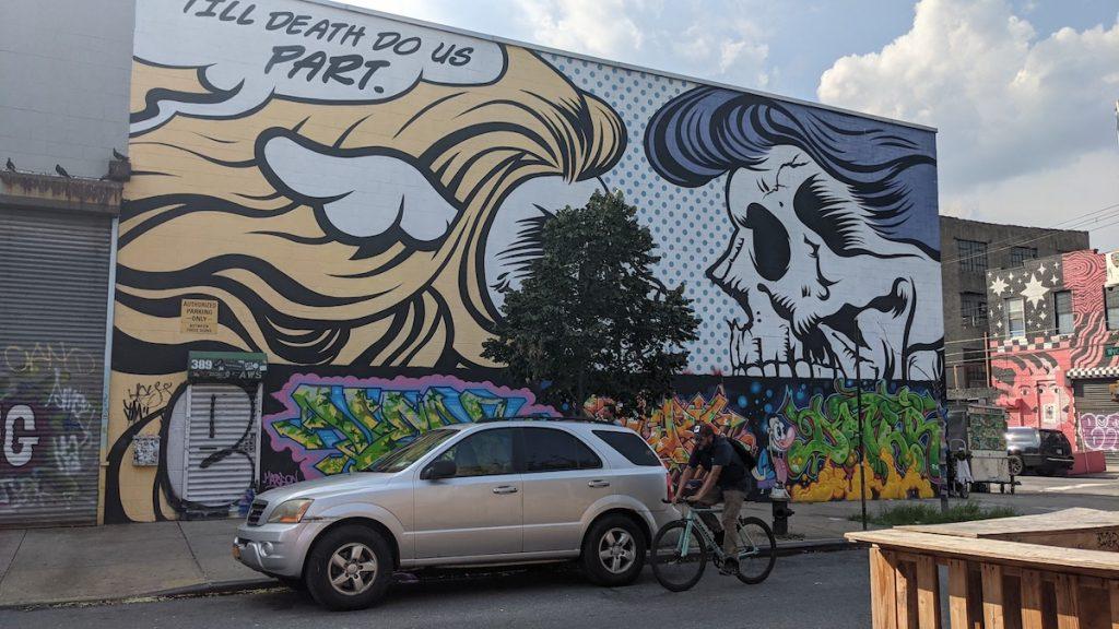 Till Death Do Us Part mural in Bushwick