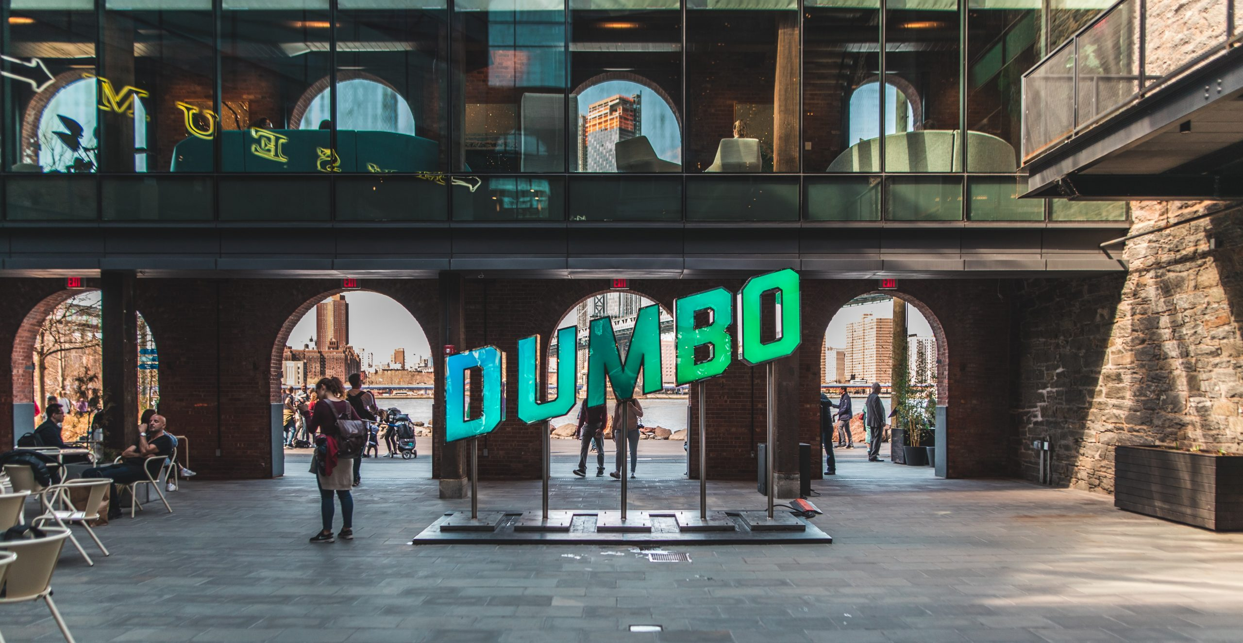 DUMBO glow sign
