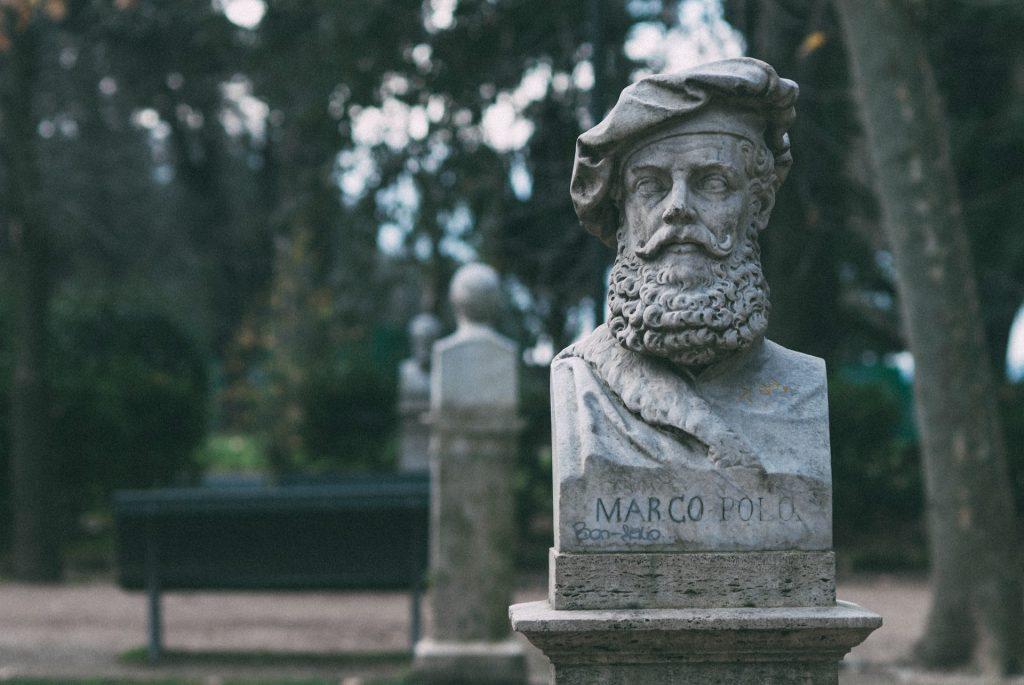 statue in a Roman park