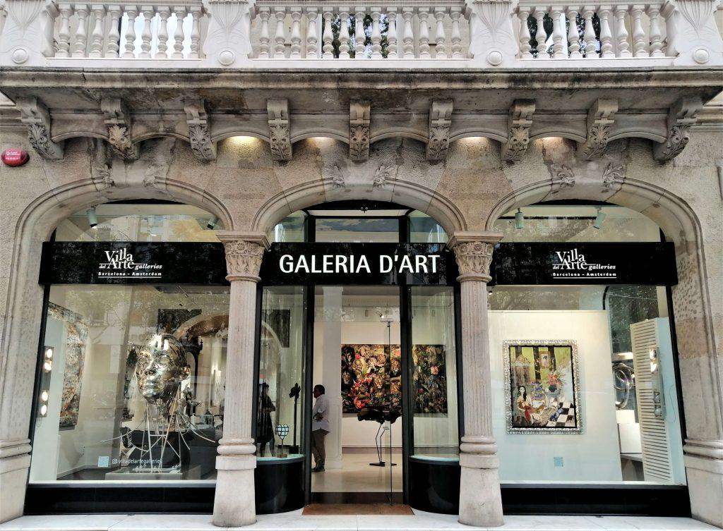 Villa del Arte Art Gallery, Passeig de Gràcia, Barcelona