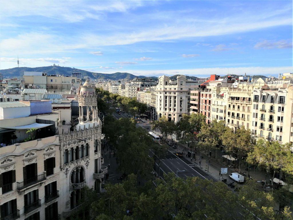 View of Passeig de Gràcia from Safestay hostel, Barcelona