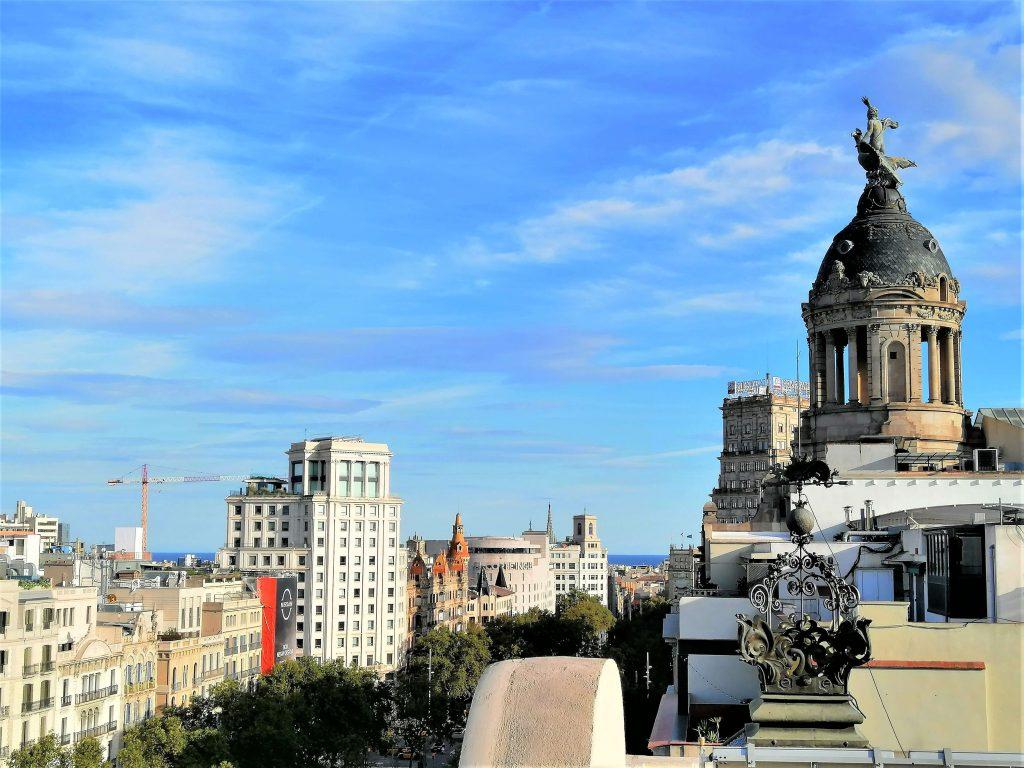 View from Safestay Hostel, Barcelona