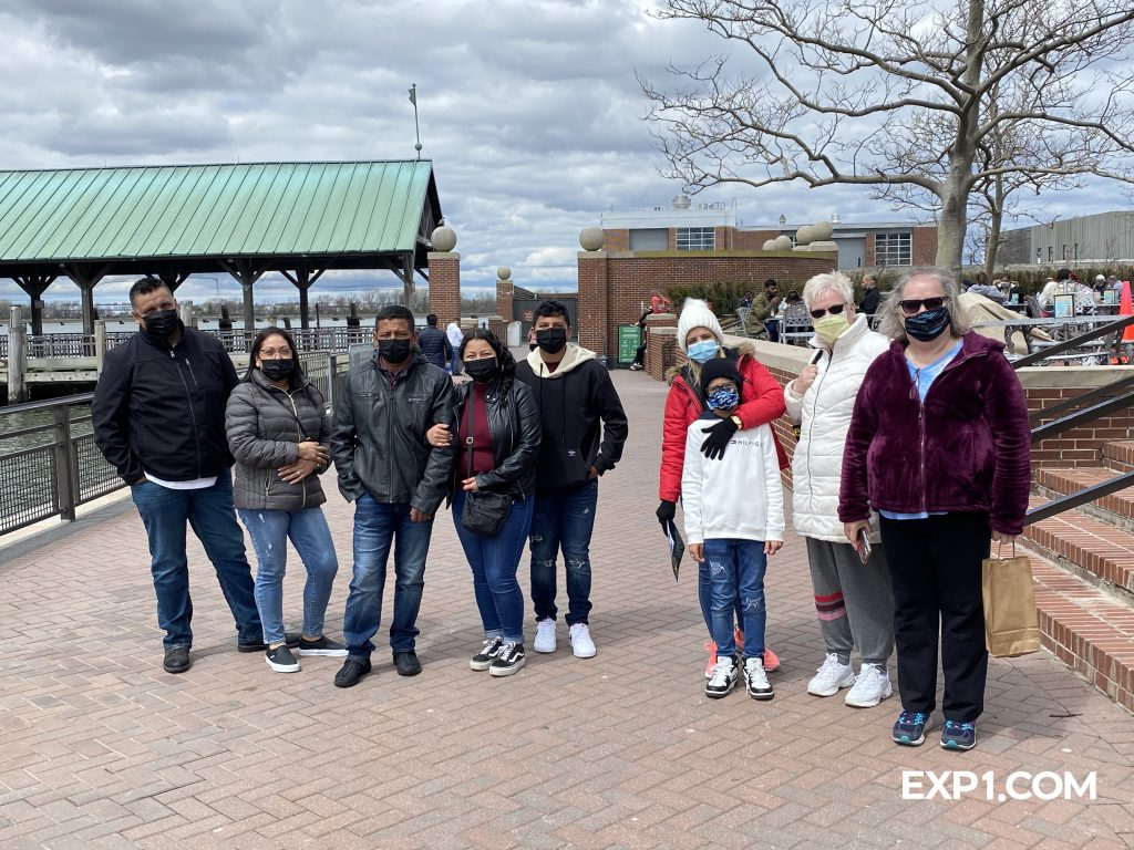 Group photo Statue of Liberty and Ellis Island Tour on 17 April 2021 with Nicola