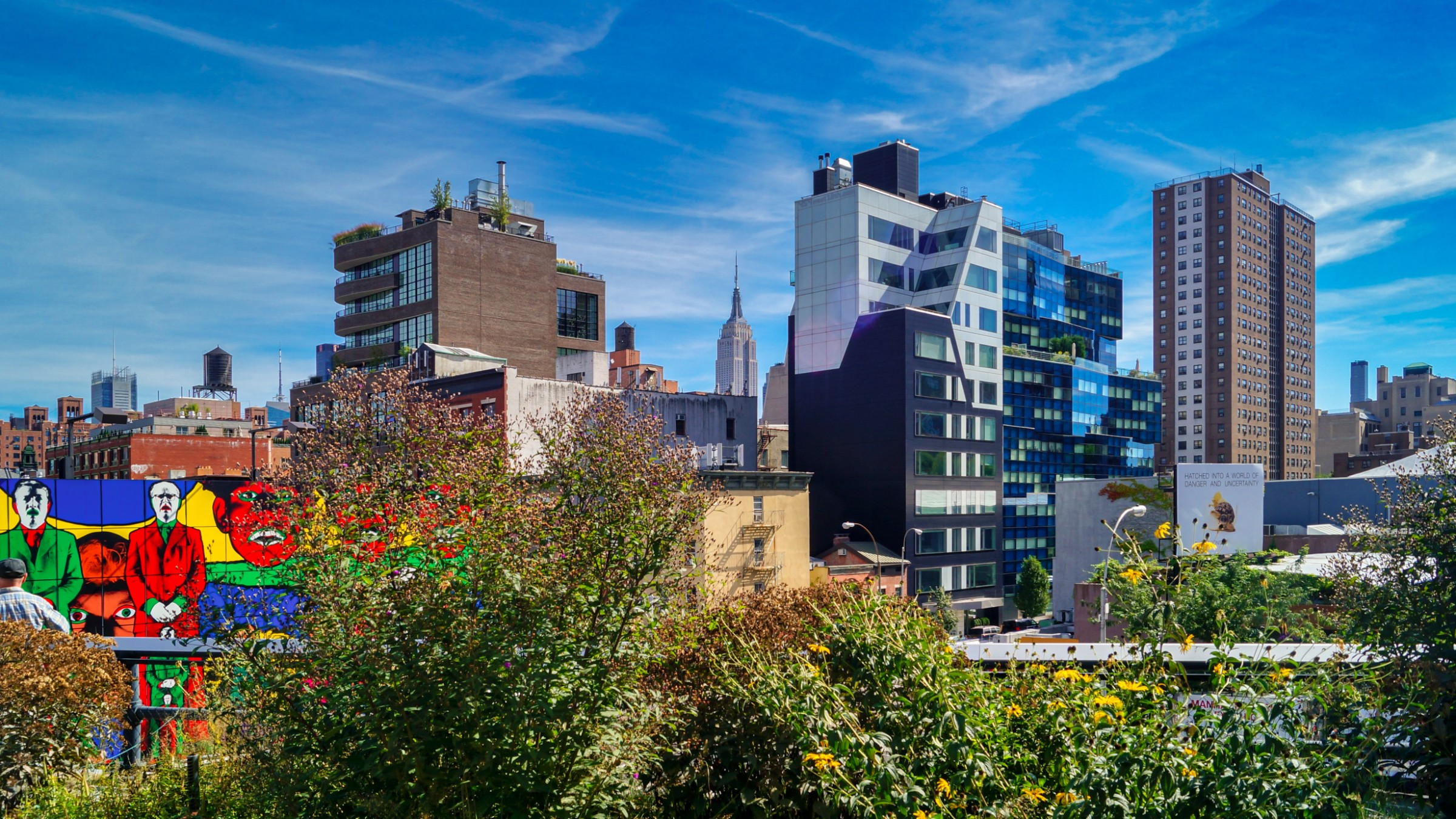 The High Line features many public art displays