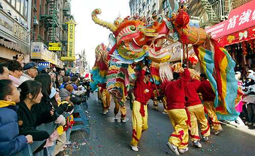 Dragon in Chinatown - Lunar New Year