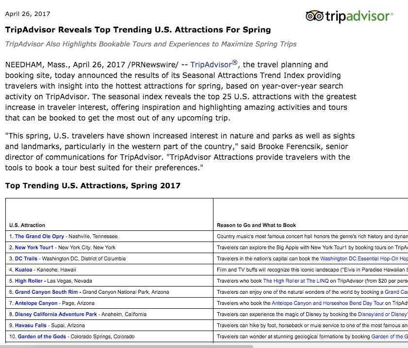 Tripadvisor Press Release about New York Tour1