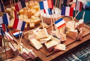 Savory French cheeses