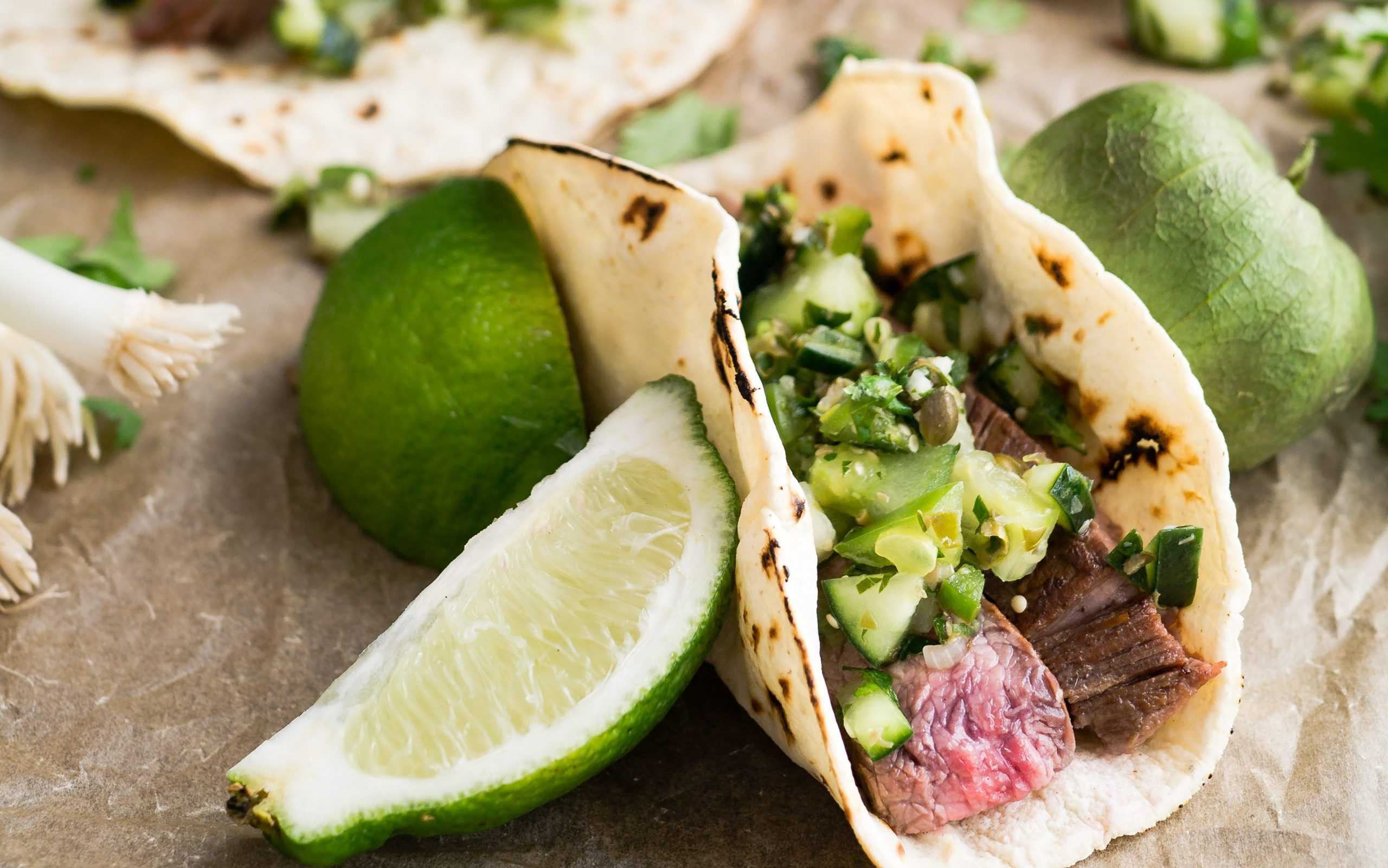 Tacos and limes