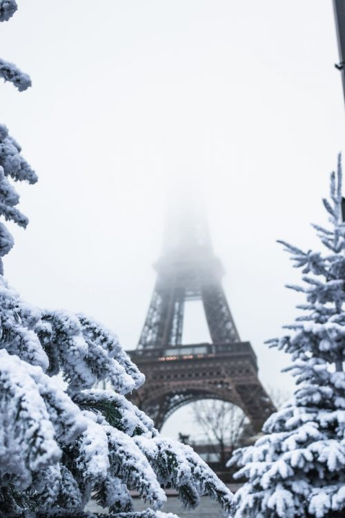 Wintery Eiffel Tower