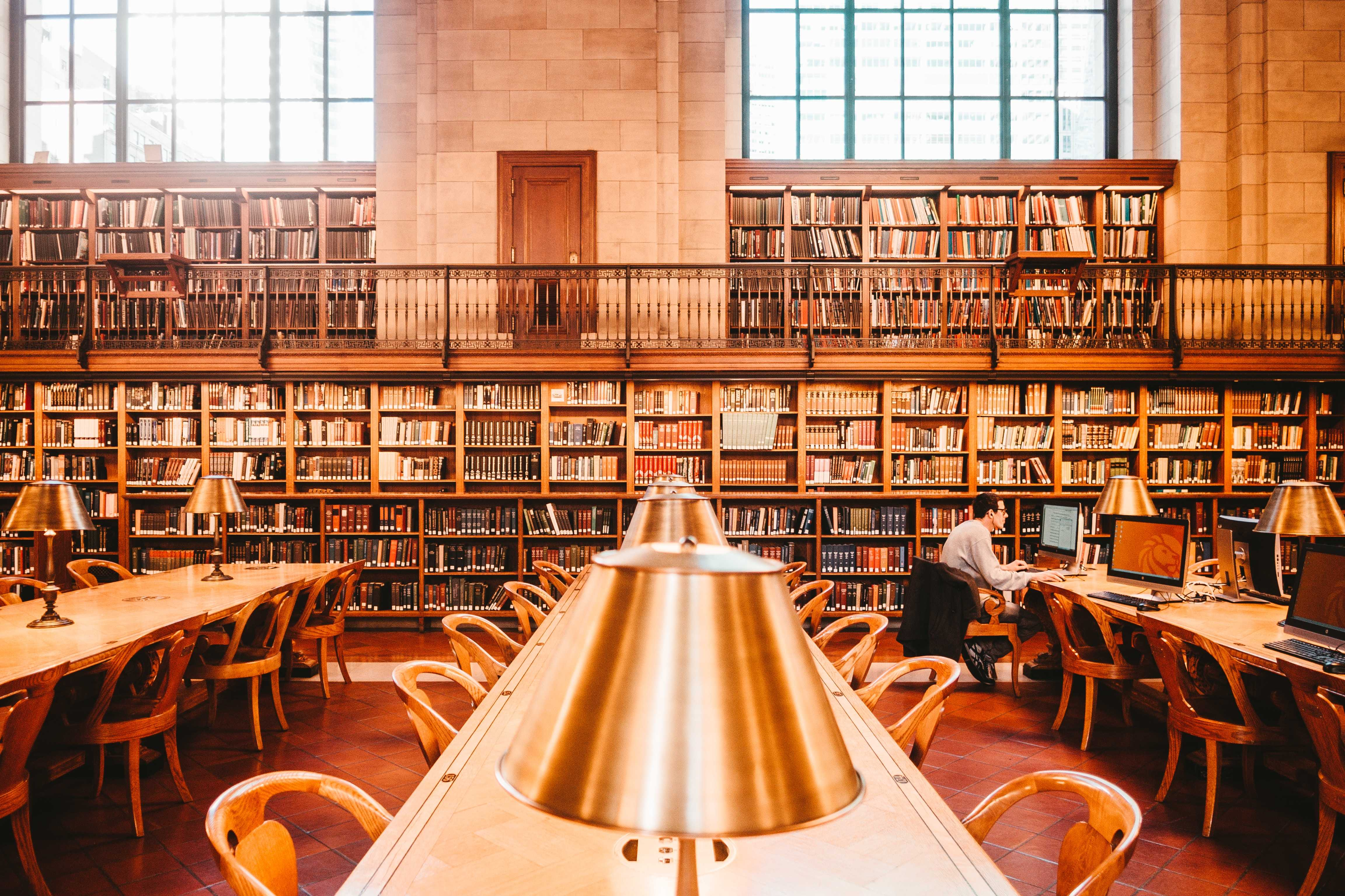 Man sitting in library