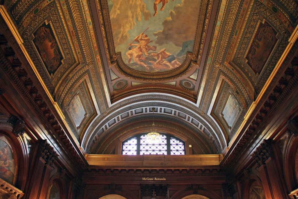 Painting on ceiling and walls