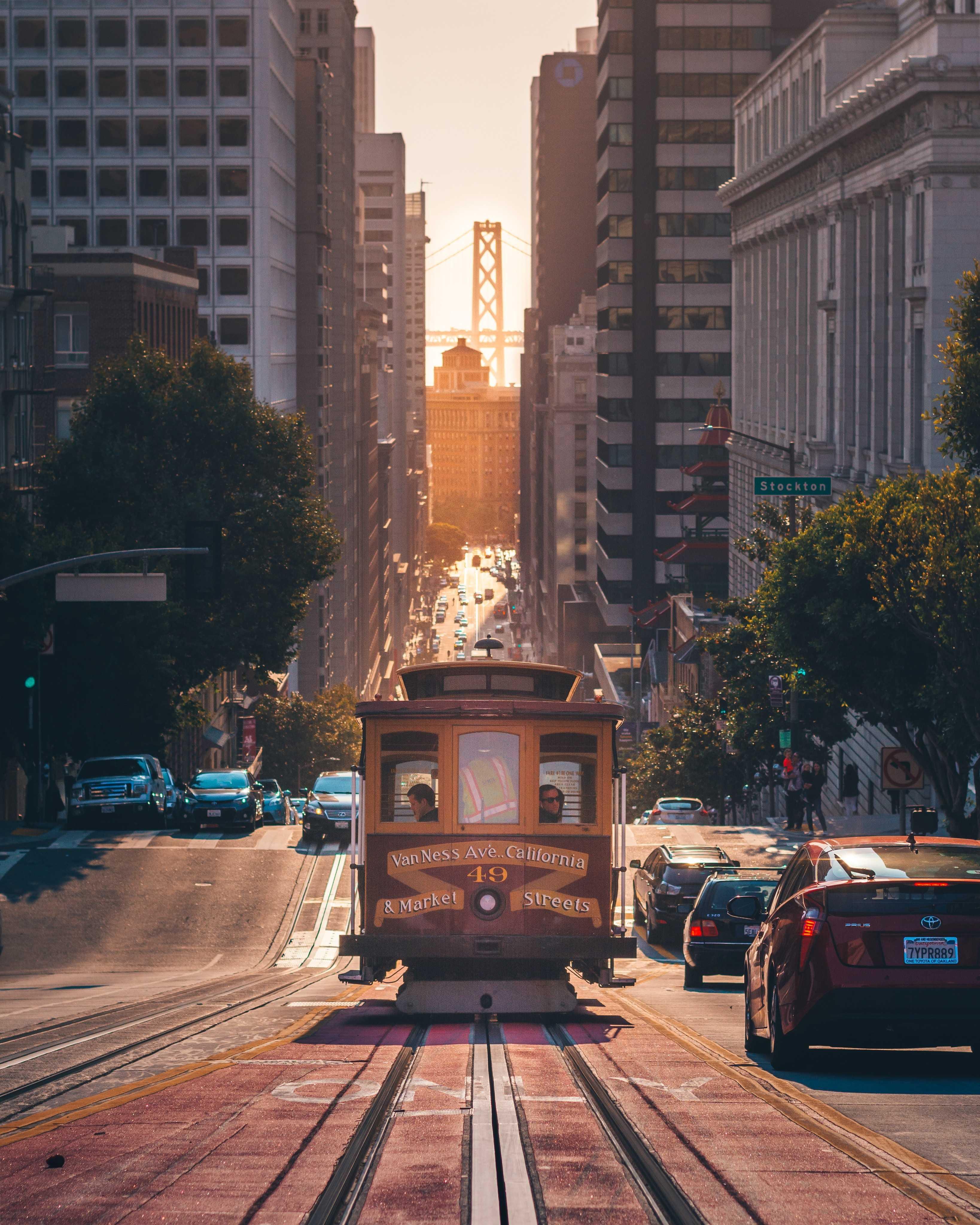 cable car through the city