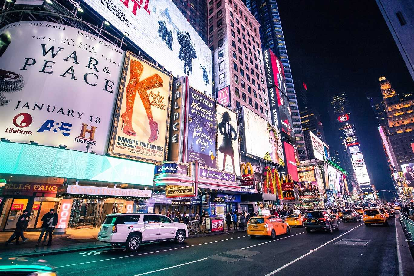 Broadway in New York City, Times Square