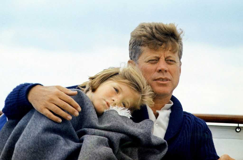 JFK and daughter Caroline Kennedy