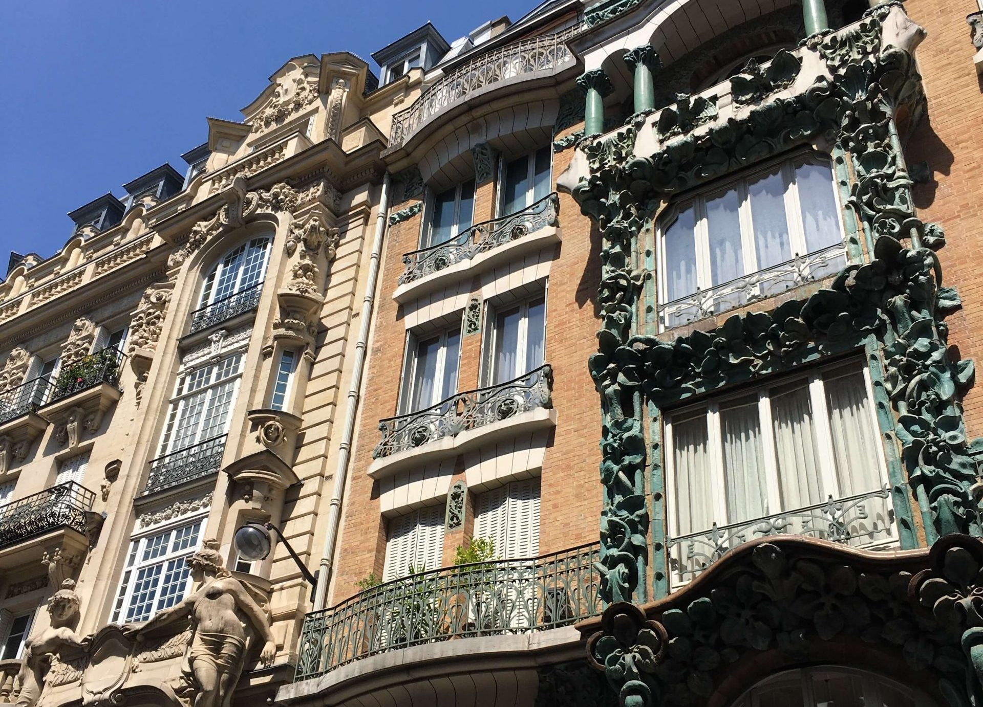 Parisian balcony in the 10th arrondissement in Paris