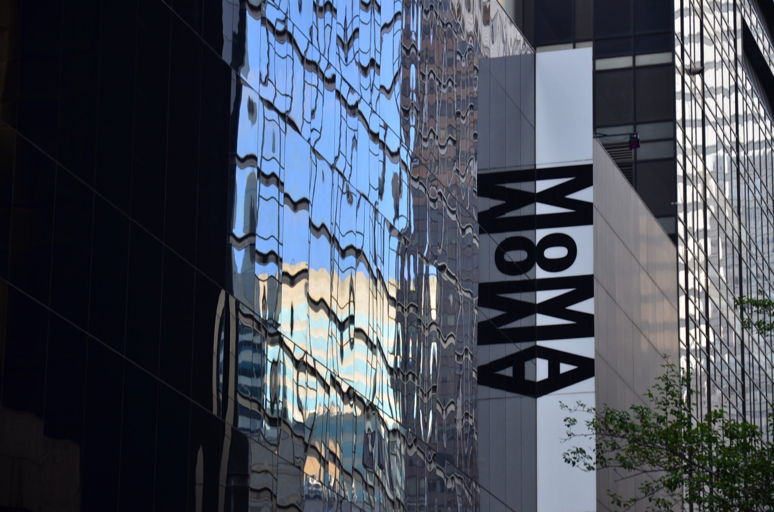 The outside of the MoMA in New York City