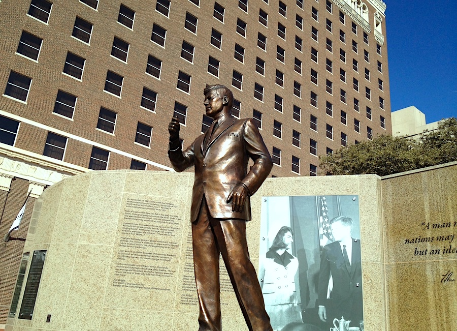 JFK statue at Hilton Fort Worth to represent his last good memory in Texas