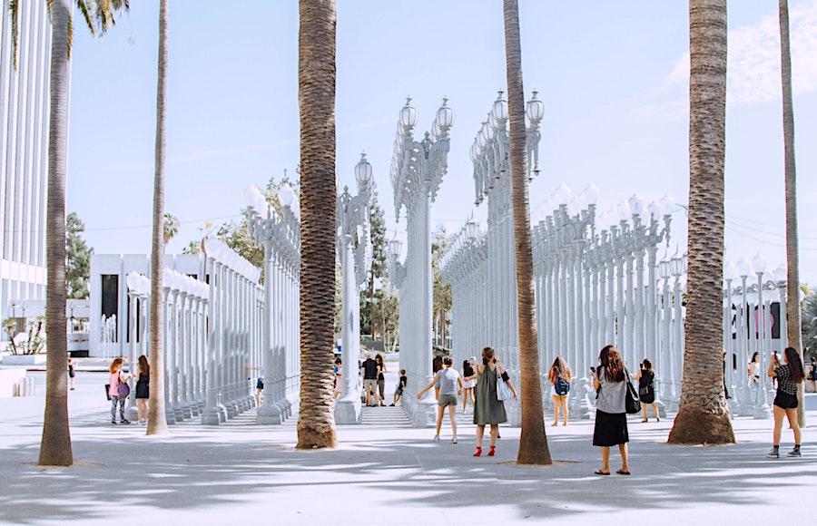 LACMA outdoor installation in Los Angeles