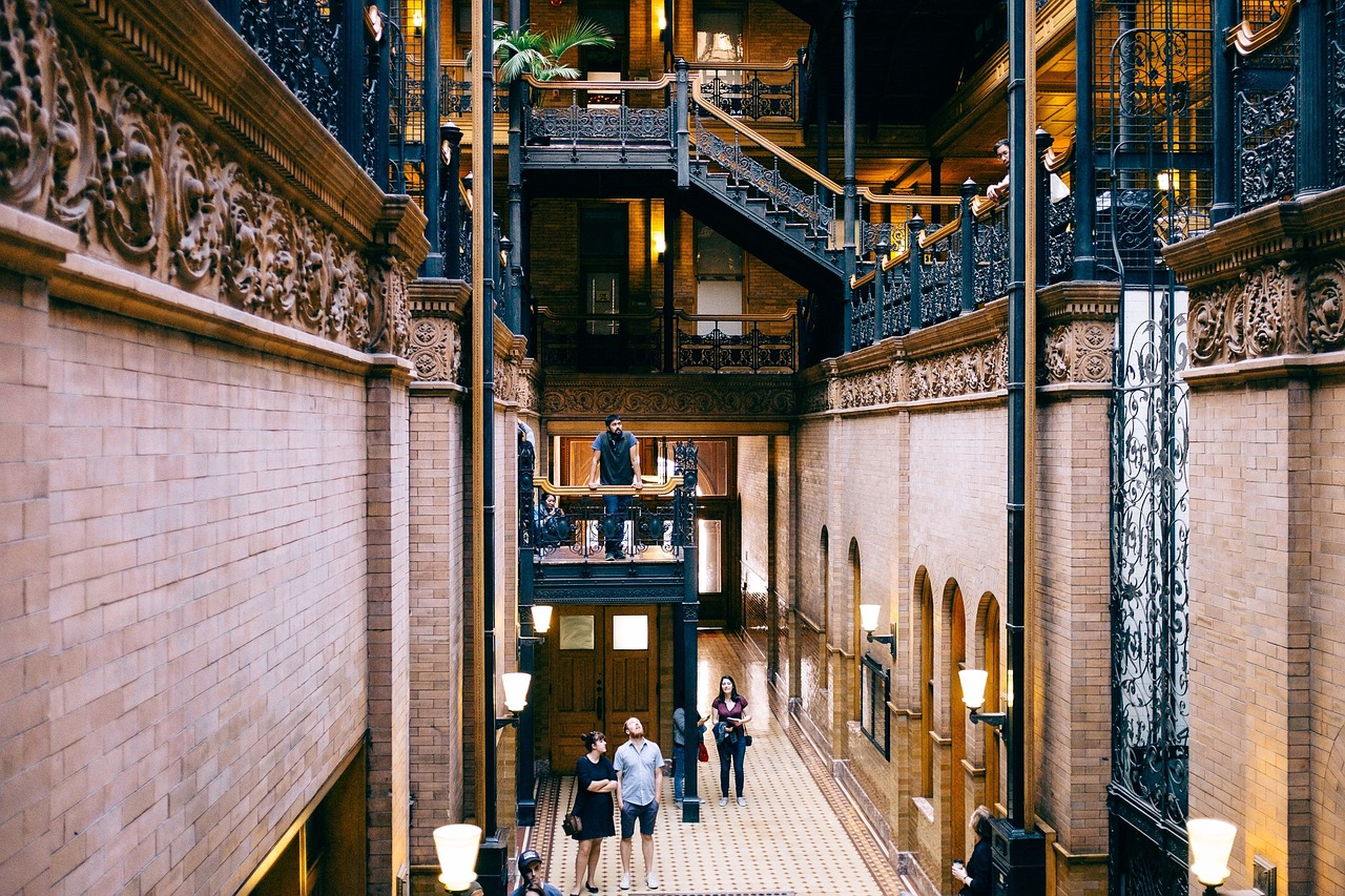 bradbury building interior architecture