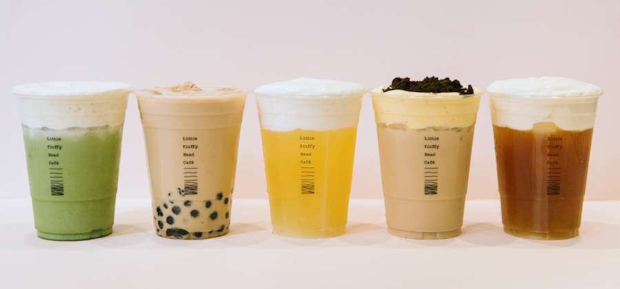 Classic Drink Lineup from Little Fluffy Head Cafe serving Instagrammable Asian desserts in DTLA